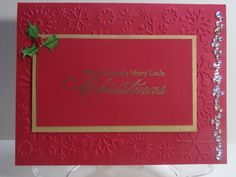 Holly and Sparkle Christmas Card by TheCraftieOne on Etsy