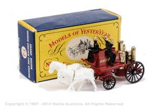 Matchbox | Models of Yesteryear | Vectis Toy Auctions 1905 Shand Mason Horse Drawn Fire Engine