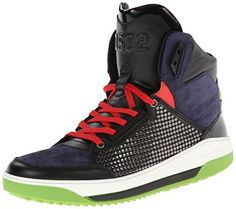 Your #1 Source for Jewelry and Accessories » DSQUARED2 Men's Nabuk Hightop Fashion Sneaker,Navy,46 EU/14 M US