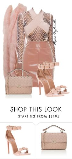 """Untitled #48"" by styledbyjanetta on Polyvore featuring Balmain, Blumarine, Alaïa and Valentino"