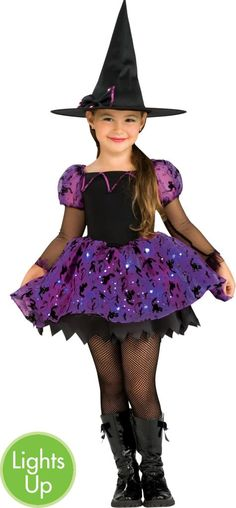 girls moonlight magic light up witch costume party city canada - All Halloween Costumes Party City