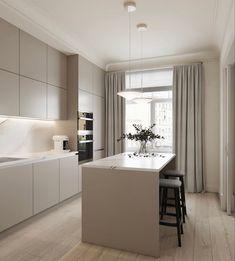 Kitchen Dinning Room, Kitchen Room Design, Modern Kitchen Design, Home Decor Kitchen, Kitchen Living, Interior Design Kitchen, New Kitchen, Home Kitchens, Küchen Design