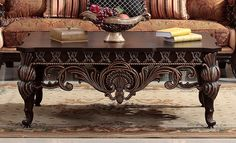 Homey Design HD-1809 Old World Coffee Table