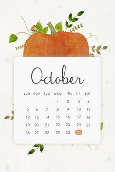 Pumpkin october calendar iphone phone background lock screen wallpaper