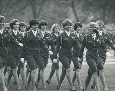 "May 6, 1965: The Ohio State U.S. Air Force ROTC girls' auxiliary marches at the annual President's Corps Day Review on the Oval (via The Columbus Dispatch's ""Look Back"" blog)"
