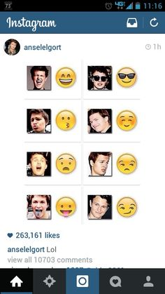Perfect for emojis..they should make separate emoji faces of Ansel Elgort!