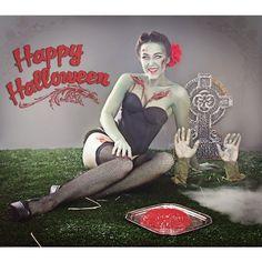 Happy Halloween zombie pin up Halloween! - Polyvore