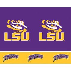 (12/case) Louisiana State University Tablecover, Plastic 54''x108''