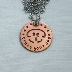 Nosework+Necklace++trust+your+dog++Copper+by+PangaeaDesigns