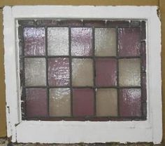 MID-SIZED-OLD-ENGLISH-LEADED-STAINED-GLASS-WINDOW-Pretty-Squares-24-x-20-75
