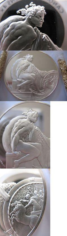 Bullion: 1.3-Oz.925 Silver Franklin Mintproof Coin Ignudo Genius Of Michelangelo + Gold -> BUY IT NOW ONLY: $69.95 on eBay!