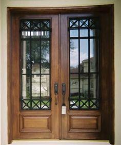 M s de 1000 ideas sobre puertas principales de madera en for Portones de entrada principal
