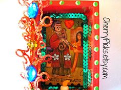 Frida Kahlo - Dia De Los Muertos - Loteria - Nicho - Day Of The Dead - Auto Retrato (Self Portrait) on Etsy, $27.00