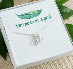 Two Peas In A Pod Keepsake Necklace