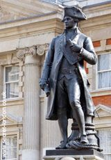 Captain James Cook    'Circumnavigator Of The Globe Explorer Of The Pacific Ocean He Laid The Foundations Of The British Empire In Australia And New Zealand Charted The Shores Of Newfoundland And Traversed The Ocean Gates Of Canada Both East And West.'    Admiralty Arch SW1  Tube: Charing Cross (cw1)