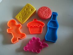 These were fun...and indestructible! They had the name of each type of food printed on the back. My sister had these, and if I remember they came with her toy shopping cart.