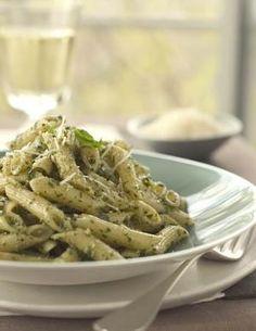 Penne ze śmietanowym pesto Roasted Walnuts, Gorgonzola Cheese, Parmesan Sauce, Parmigiano Reggiano, Fusilli, Fresh Pasta, Recipe Details, Melted Cheese, Penne