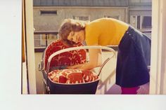 """""""I tuned the baby carriage for my first born with the Elefantti fabric. I had to get it from Stockholm, as it was not yet sold in Finland. Baby Carriage, 1970s, Retro, Stockholm, Finland, Diy, Fabric, Design, Home Decor"""
