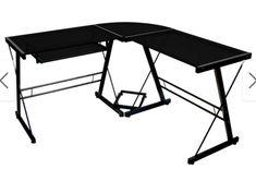 300 Glencoe Ideas In 2021 Lounge, Porch Den Hardy Black Metal Glass Corner Computer Desk