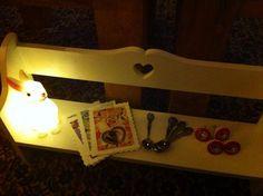 woodland rabbit night light, souvenir spoons.