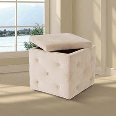 Ottoman Storage | Ottoman Boxes | Ottoman Stools Ottoman Storage, Ottoman Stool, Book Storage, Bedroom Ottoman, Home Bedroom, Stools, Boxes, Interior, Benches