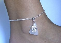 Flip Flop Anklet with White Sea GlassSea Glass Jewelry by Sea Glass Secrets Flipflops, White Sea, Organza Gift Bags, Diy Jewelry Making, Sea Glass Jewelry, Anklets, Sterling Silver Chains, Bracelets, Arrow Necklace