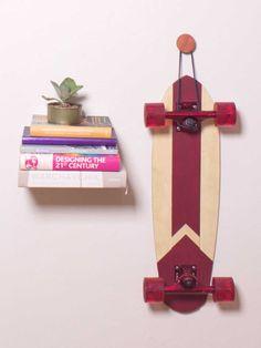 suporte de skate madeira cedrinho