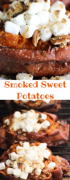 Smoked Sweet Potatoes - Tony In The House Smoked Potatoes, Grilled Sweet Potatoes, Cooking Sweet Potatoes, Smoked Pork, Sweet Potato Pecan, Sweet Potato Recipes, Traeger Recipes, Grilling Recipes, Rib Recipes