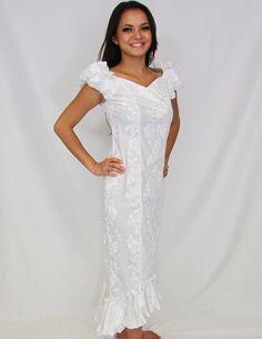 Details about hawaii muumuu dress plus size xs 3xl for Hawaiian wedding dresses plus size