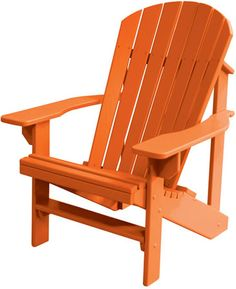 orange Adirondack Poly Wood Comfo Back Chairs