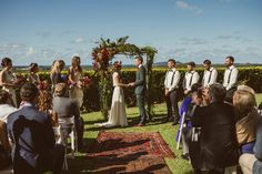 floral arbour and persian rug aisle runner