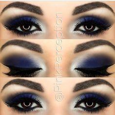 14 Overwhelming Smokey Eye Makeup Looks and Tutorials - Pretty Designs Makeup Goals, Makeup Inspo, Makeup Inspiration, Makeup Tips, Beauty Makeup, Hair Makeup, Makeup Ideas, Blue Makeup Looks, Blue Eye Makeup