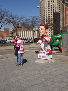 Red Wing bobblehead in Cadillac Square