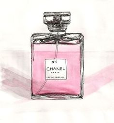 Parfum Chanel shared by the_fashionbeauty on We Heart It Perfume Chanel, Chanel Art, Pink Perfume, Chanel No 5, Chanel Makeup, Perfume Bottles, Coco Chanel, Makeup Illustration, Paris Illustration