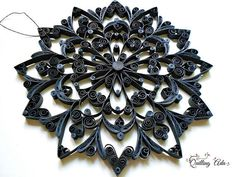 Quilled mandala  wall decoration  paper art  paper ornament