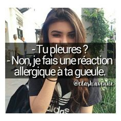 Blagues Happy Quotes, Funny Quotes, Crazy Meme, Image Citation, French Expressions, Text Memes, Bitch Quotes, Text On Photo, Teen Life