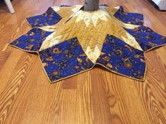 Quilted tree skirt quilted Christmas tree by DowneastTraditions