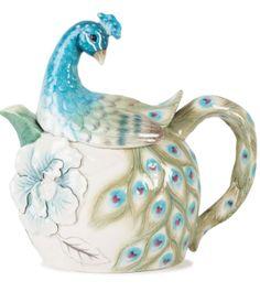 edie rose peacock teapot