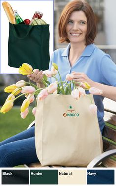 Port & Company Promotional Give-Away Grocery Tote Bag $9.48