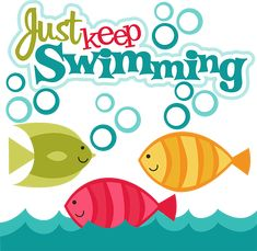 Just Keep Swimming SVG scrapbook collection fish svg files fish svg cut files for scrapbooking