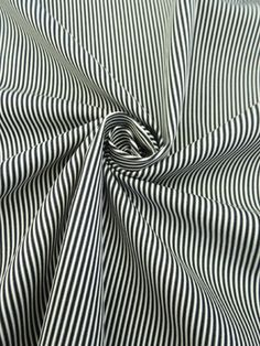 Blue Black/White Striped Cotton/Lycra Slightly Corded Bottom Weight 49W