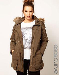 oooooh, looks so comfy! ASOS CURVE Oversized Hooded Parka