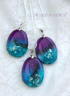 Resin real flower, gift pendant, Pendant resin lavender, Pendant resin lavender, oval resin pendant,