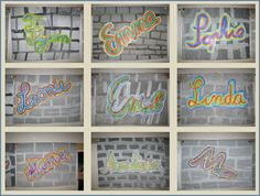 graffiti name - Art Education ideas Art Education Lessons, Elementary Education, Art Lessons, Graffiti Kunst, Name Art, Arts Ed, I School, Mellow Yellow, Art Plastique