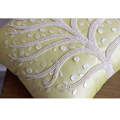 Luxury Yellow Pillow Covers 16x16 Silk Pillows by TheHomeCentric