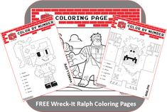 FREE:  Wreck It Ralph Coloring Pages