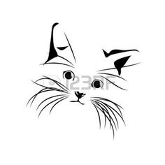 silhouette chat: Vector abstract dessin de chat                                                                                                                                                                                 Plus