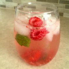 "Fresh Raspberry MojitoI ""Perfect Summer drink. Sweet raspberries, cool crisp mint."""