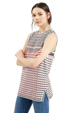 Topshop Jacquard Pattern Tunic