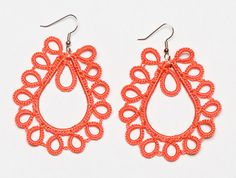 ethically made hand-Crocheted Earrings in neon from Noonday Collection.  These are Summer!
